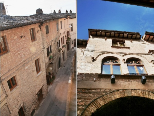 Ca' Spadolino holiday house & street view, self catering Spello vacation accommodation Umbria Italy