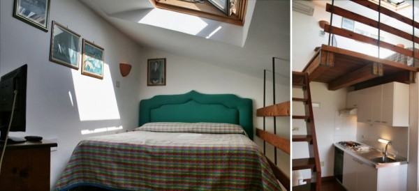 Spello mini holiday apartment bedroom, Umbria vacation accommodation Italy