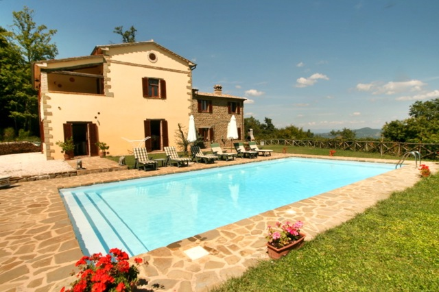 Villa Forconi, a holiday rental home on the Tuscany Umbria border