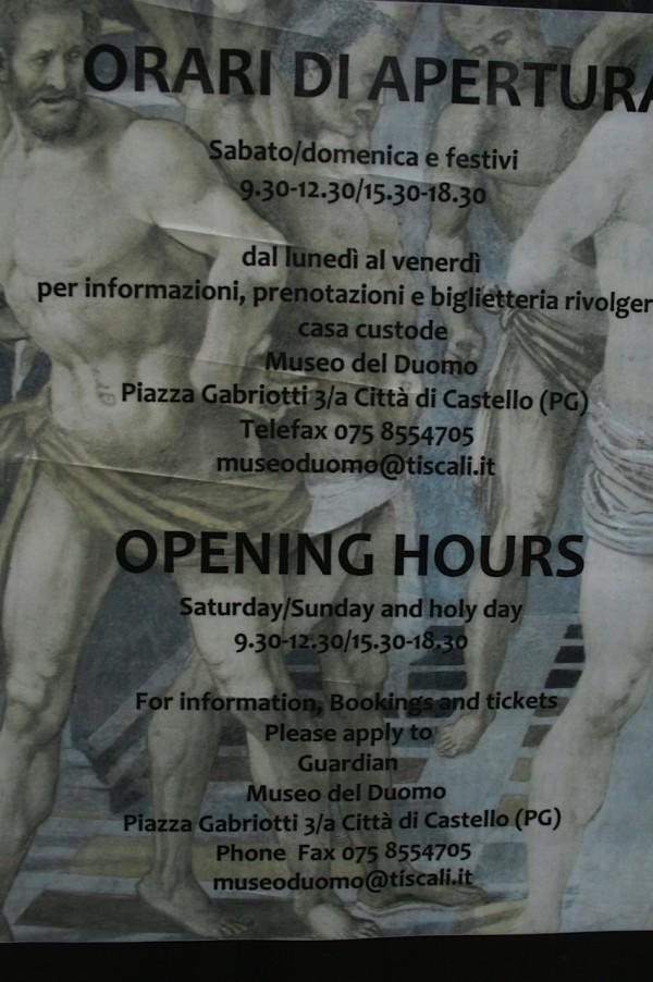 Opening Times For Luca Signorelli's Morra Frescoes.