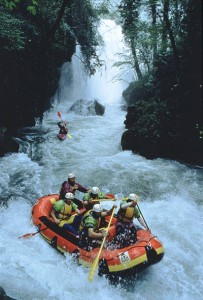 Rafting near the Cascata dei Marmore, Umbria