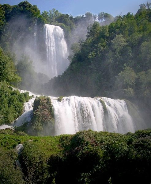 At 165m, the Cascata delle Marmore are the tallest man made waterfalls in the world
