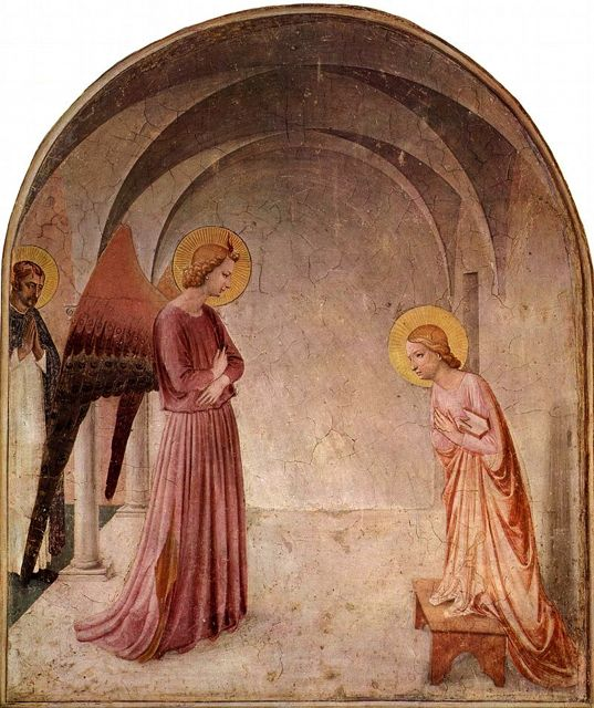 Annunciation by Fra Angelico in the Covent of San Marco, Florence