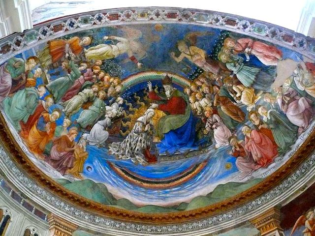 The Coronation of the Virgin fresco by Filippo Lippi in Spoleto Duomo
