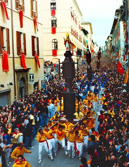 The Corsa dei Ceri in Gubbio, Umbria