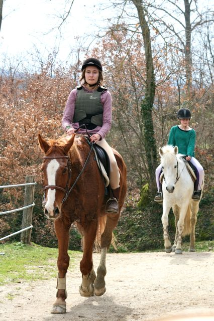 Horse riding on the Tuscany Umbria border