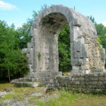 The ruins of the Roman town Carsulae in Umbria