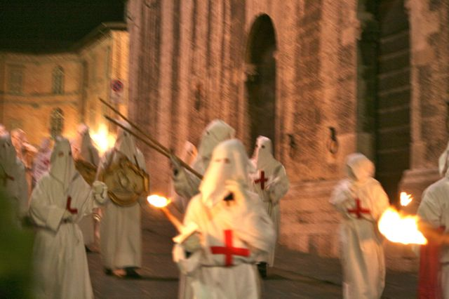 The Good Friday procession in Gubbio, Umbria