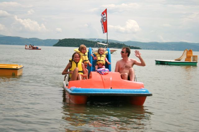 A pedalo on Lake Trasimeno