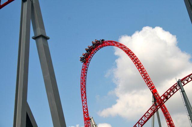 The I-speed roller coaster at Mirabilandia