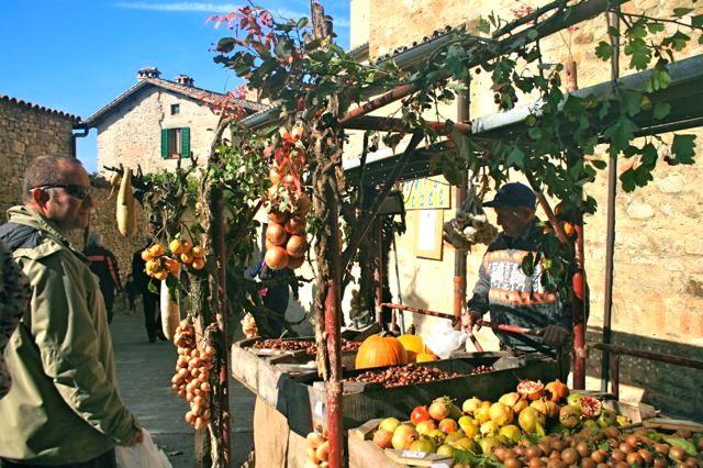 At stall at the Montone Festa del Bosco