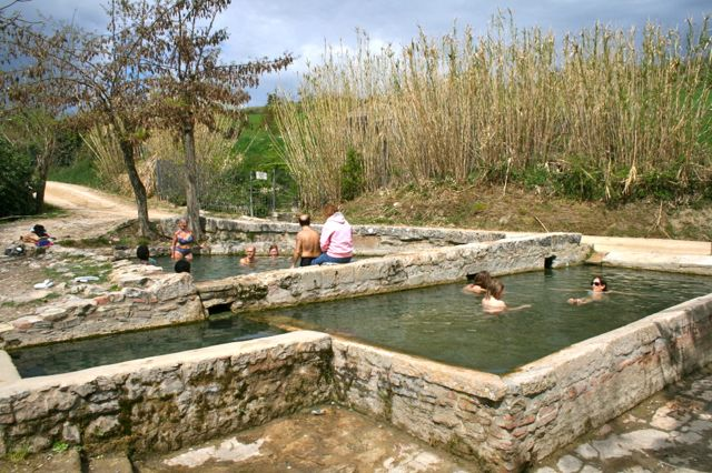 The hot springs at San Casciano dei Bagni