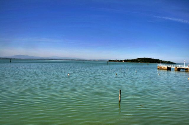 A view from the shore of Lake Trasimeno