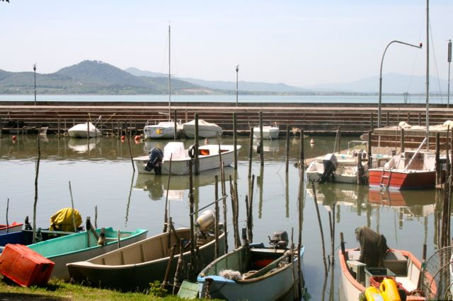 The marina at San Feliciano, Lake Trasimeno