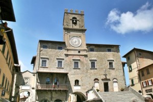 The town hall in Cortona, Tuscany