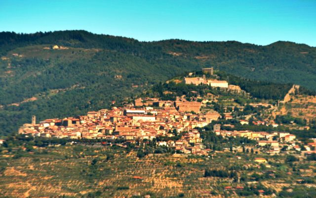 The town of Cortona in Tuscany