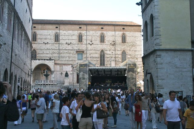 Perugia during the Umbria Jazz Festival