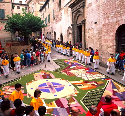 The Infiorata in Spello, Umbria