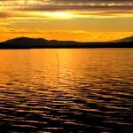 Winter sunset on Lake Trasimeno, Umbria