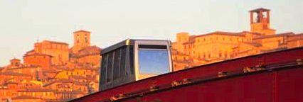 The mini metro in Perugia, Umbria