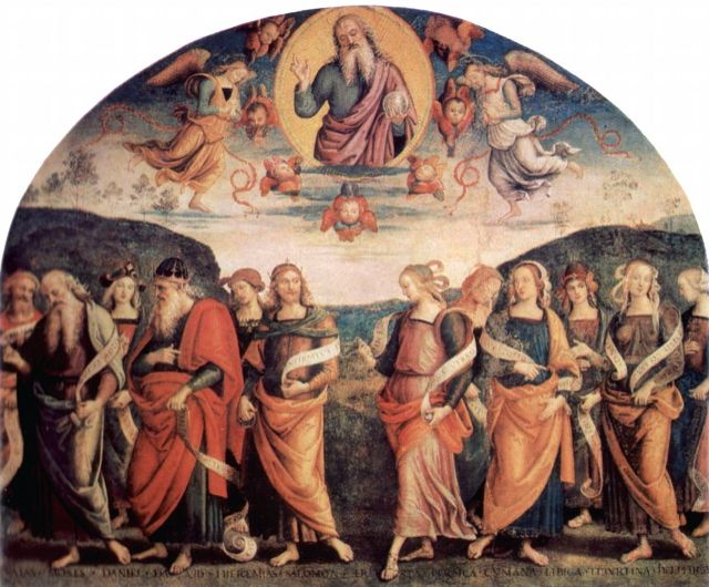 Perugino's frescoes in the Collegio del Cambio, Perugia