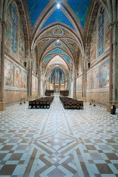 The Interior Of The Upper Basilica In Assisi