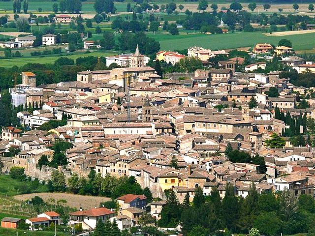 Bevagna, a walled town in in Umbria, Italy