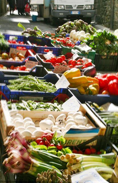 Vegetables at the Cortona Saturday market