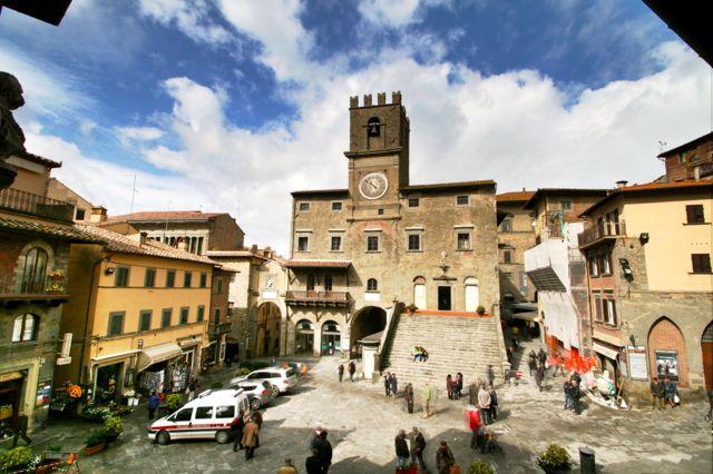 Piazza della Repubblica, Cortona, Tuscany