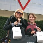 Lucy and Jess With Their Shopping