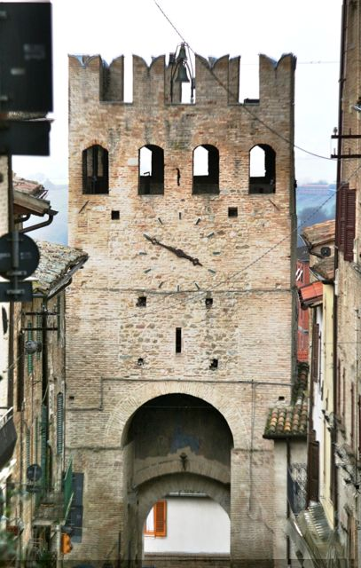 Entrance gate to the Umbrian town of Montefalco