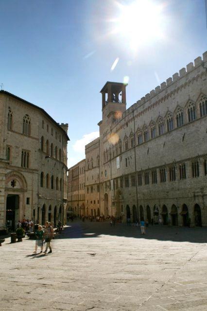 The Palazzo deo Priori seen from Piazza IV novembre, Perugia
