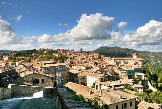 The view from Perugia's walls