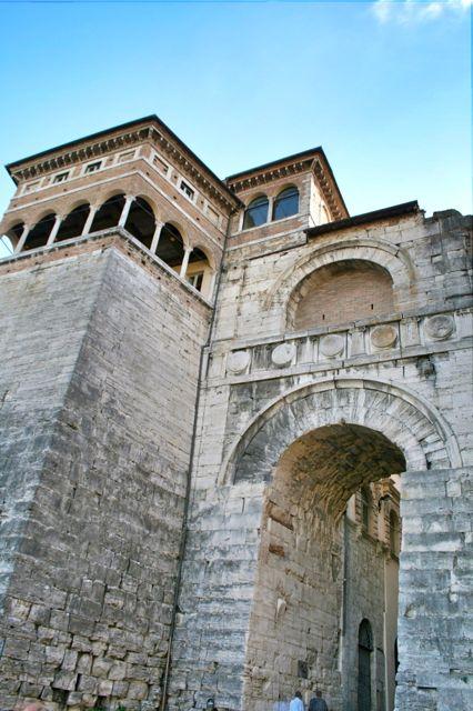 Etruscan Gate in Perugia, Umbria, italy