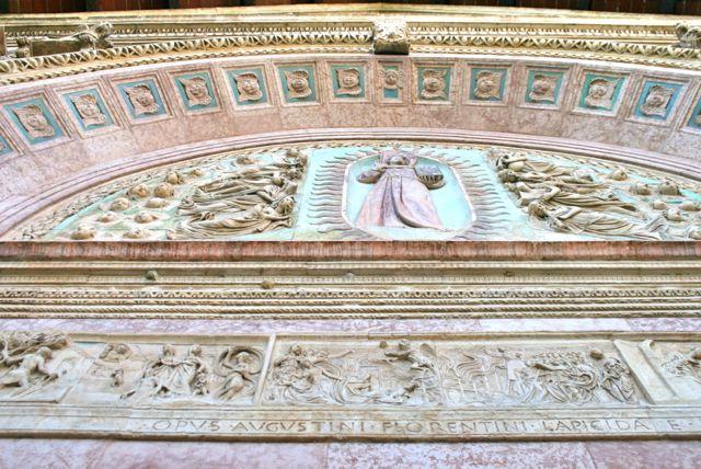 Facade of the Oratorio di San Bernardino in Perugia