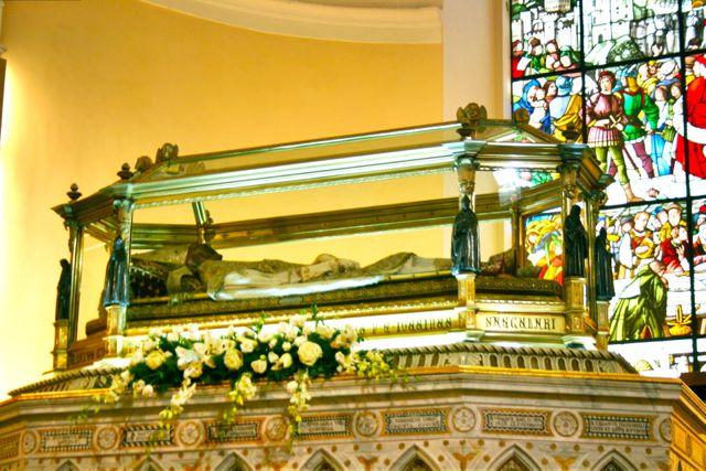 The body of St Ubaldo, Gubbio, Umbria