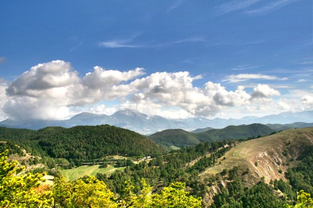 A view from a walk behind Gubbio in Umbria