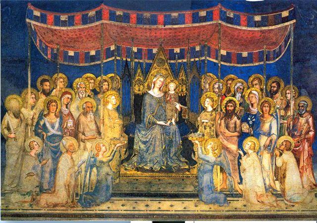 Simone's Maestà in the Museo Civico, Siena