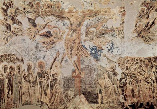 Cimabue's Crucifixion In The Upper Basilica, Assisi