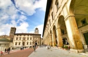 The Piazza Grande in Arezzo, Tuscany