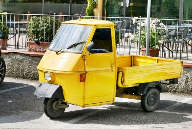 An Ape Three wheeler vehicle