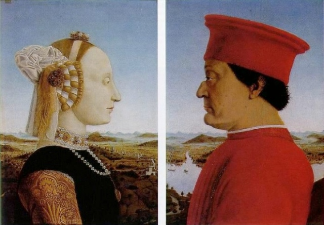 Portraits of Federigo Da Montefeltro and Battista Sforza