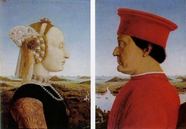 Portraits of Federigo Da Montefeltro and Battista Sforza
