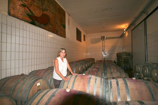 Ursula Gritti in the barrel room
