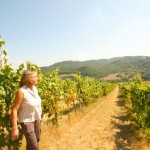 Ursula Gritti in her vineyard in the Niccone Valley, Umbria, Italy