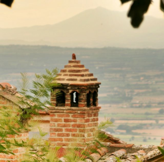 A Chimney in Cortona, Tuscany