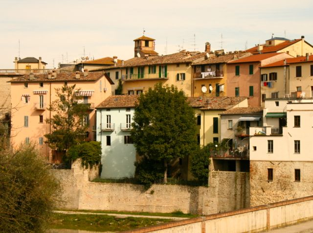 Umbertide viewed from the train