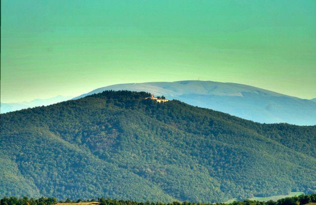 Monte Corona monastery above Umbertide