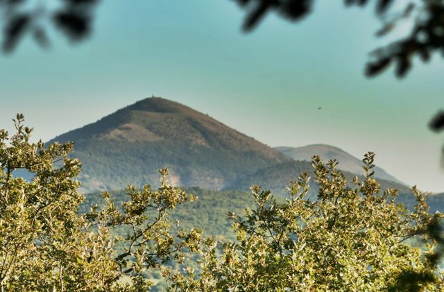 Monte Acuto, so called because of its conical peak