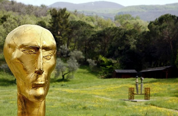 Sculptures in the Daniel Spoerri Sculpture Garden